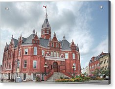 Stratford City Hall Acrylic Print by John-Paul Fillion