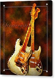 Stratocaster Acrylic Print by Robert Smith