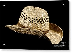Straw Hat Acrylic Print by Blink Images