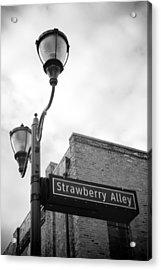 Strawberry Alley Acrylic Print by Paul Bartoszek