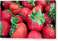 Strawberry Delight Acrylic Print by Sherry Hallemeier
