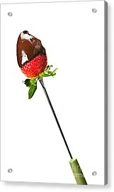Strawberry Dipped In Chocolate Acrylic Print by Elena Elisseeva