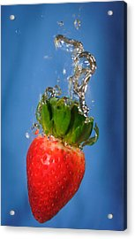 Strawberry Plunge Acrylic Print by John White