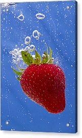 Strawberry Soda Dunk 3 Acrylic Print by John Brueske