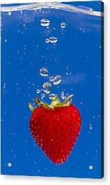 Strawberry Soda Dunk 6 Acrylic Print by John Brueske