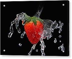 Strawberry-splash Acrylic Print