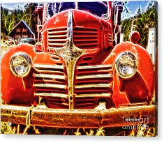 Strawberry Truck Acrylic Print