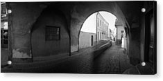 Streaking Car Visby Acrylic Print