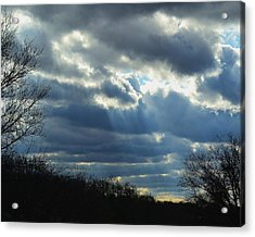 Acrylic Print featuring the photograph Streaming by Mary Zeman