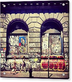 Street Art On The Bowery - New York City Acrylic Print