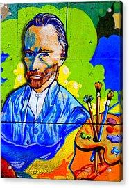 Street Art Van Gogh 1 Acrylic Print by Randall Weidner