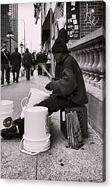 Street Drummer Acrylic Print by Peter Chilelli