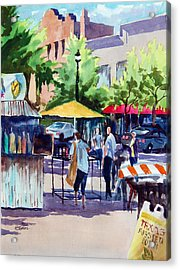 Street Fare Acrylic Print by Ron Stephens