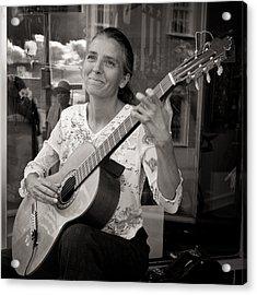 Street Guitarist Acrylic Print by Dale Davis