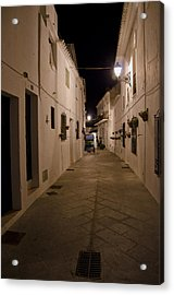 Street In A White Village Acrylic Print by Perry Van Munster