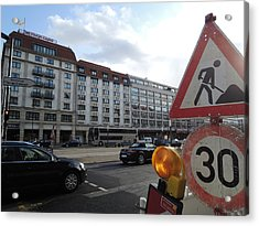 Street In Berlin Acrylic Print by Chung Chui Leung