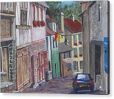 Street In Dinan Acrylic Print