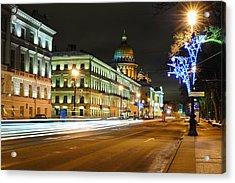 Street In Saint Petersburg Acrylic Print by Roman Rodionov