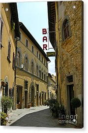 Acrylic Print featuring the photograph Street In Tavarnelle by Victoria Lakes