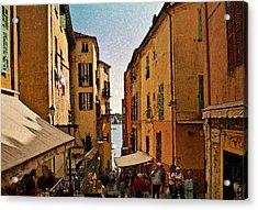 Street In Villefranche II Acrylic Print