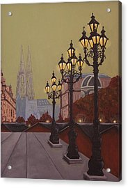 Street Lamps Acrylic Print by Jennifer Lynch