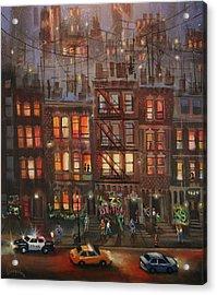 Street Life Acrylic Print by Tom Shropshire