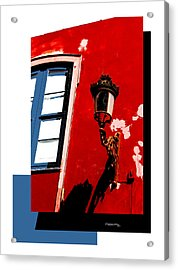 Street Light Collage Acrylic Print by Xoanxo Cespon