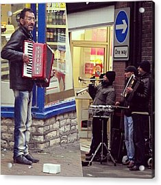 #street #musicians In #oswestry #wales Acrylic Print