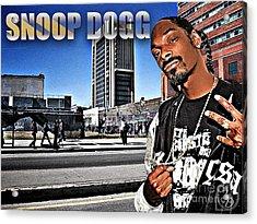 Street Phenomenon Snoop Dogg Acrylic Print by The DigArtisT