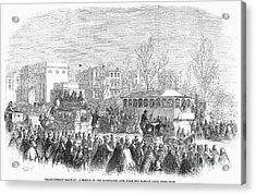 Street Railway, 1861 Acrylic Print