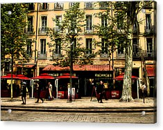 Street Scene Acrylic Print by Jim Painter
