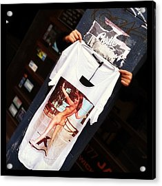 Street Style Shopping. #t-shirt #street Acrylic Print