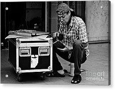 Street Worker Acrylic Print by John Buxton