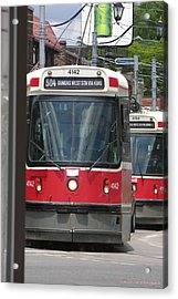 Acrylic Print featuring the photograph Streetcars 21379 by Brian Gryphon