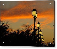 Streetlamp Sunset Acrylic Print