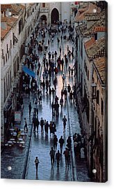 Streets Of Dubrovnik Acrylic Print by Carl Purcell