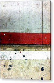 Streets Of New York Abstract Eight Acrylic Print by Marlene Burns