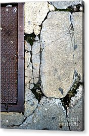 Streets Of New York Abstract Two Acrylic Print by Marlene Burns