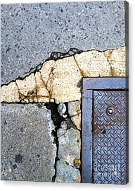 Streets Of Nyc Abstract One Acrylic Print by Marlene Burns