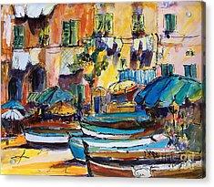 Streets Of Portofino Italy Acrylic Print