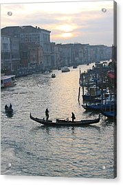 Streets Of Venice Acrylic Print by Regina  Visconi