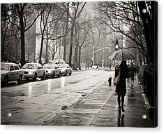 Streets Slick With Promise - Greenwich Village Acrylic Print