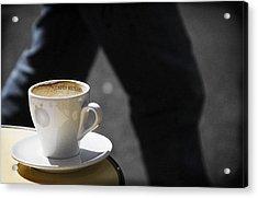 Streetside Cafe Acrylic Print