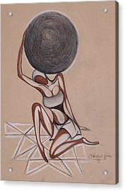 Strenght Of A Woman Acrylic Print by Chibuzor Ejims