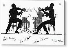 String Quartet, C1935 Acrylic Print by Granger