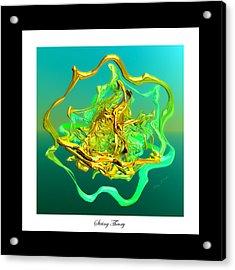 String Theory D Acrylic Print by Betsy Knapp