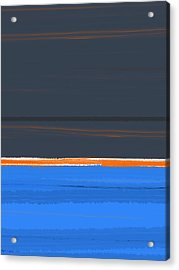 Stripe Orange Acrylic Print