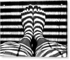 Stripe Socks? Acrylic Print