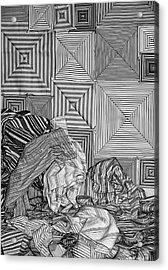 Striped Squares Acrylic Print