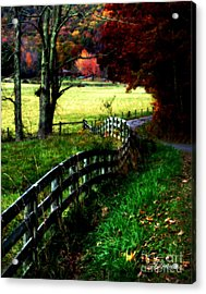 Strolling Down The Old Country Road Acrylic Print